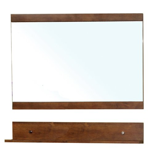 - Bellaterra Home 203139-MIRROR Solid Wood Frame Mirror, Walnut