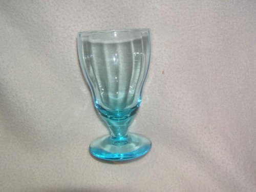 Capri Blue 5 3/8 in 10 oz. Water Goblets Stem Gorgeous! Depression (Depression Glass Stem)
