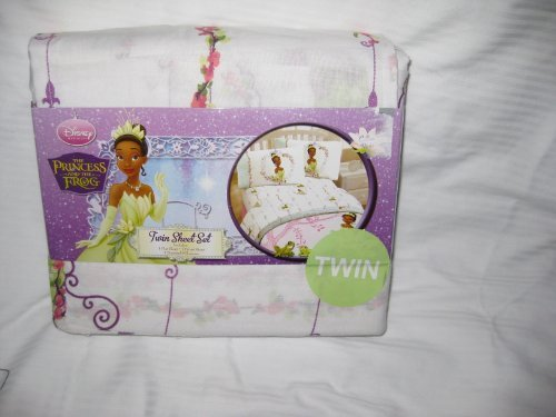 Disney The Princess and the Frog Three Piece Twin Sheet Set