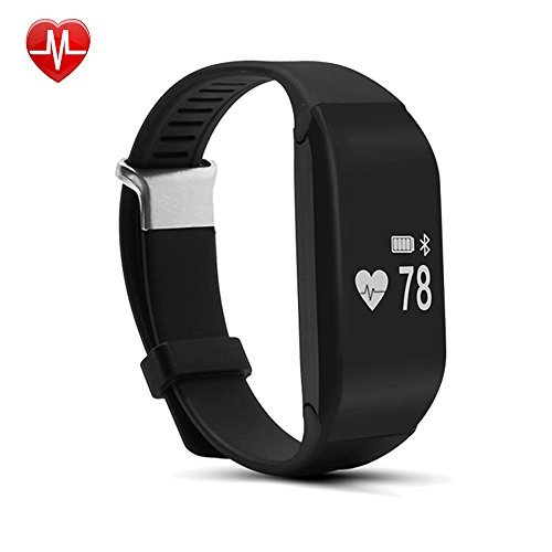 Willful SW323 Waterproof Fitness Tracker Heart Rate Monitor Watch Sports Wrist Pedometer Bracelet with Step Calorie Counter Sleep Monitor Alarm Clock Call/SMS Notice for iPhone Samsung IOS Android