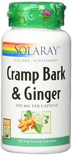 - Solaray Cramp & Ginger Bark 500 mg VCapsules, 60 Count
