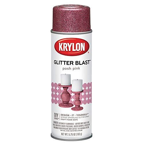 Krylon K03812A00 Glitter Blast, Posh Pink, 5.75 Ounce