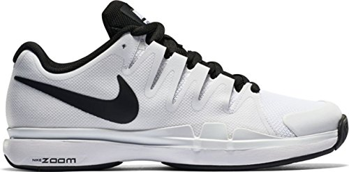 Nike Jungen Zoom Vapor 9.5 Tour Tennisschuhe Weiß / Schwarz (Weiß / Schwarz-Schwarz)