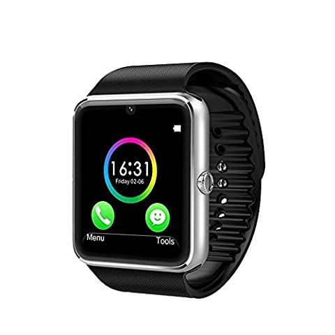 Wingtech Bluetooth Smartwatch 1.54 Inch Touch Screen Smart Wrist Watch Supports SIM Card Slot / TF Card with Pedometer Camera Sleep Monitor for Android Samsung Huawei LG Smartphones (Gsm Unlocked Iphones S3)