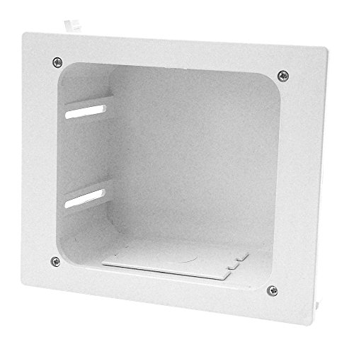 Construct Pro In-wall Recessed Entertainment Box, White ()