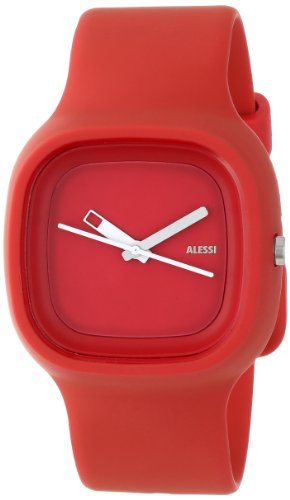 Alessi Kaj Watch (Alessi Men's AL10016 Kaj Polyurethane Red Designed by Karim Rashid Watch )