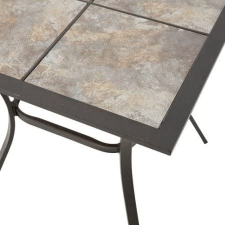 Mainstays Heritage Park 27 x 27 Patio Bistro Table, Matte Espresso Finish