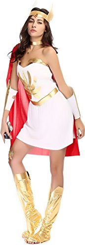 Fedo Design White Greek Goddess Role Play Costume Set M-XL