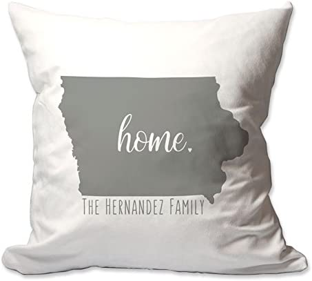Pattern Pop Personalized State of Iowa Home Throw Pillow