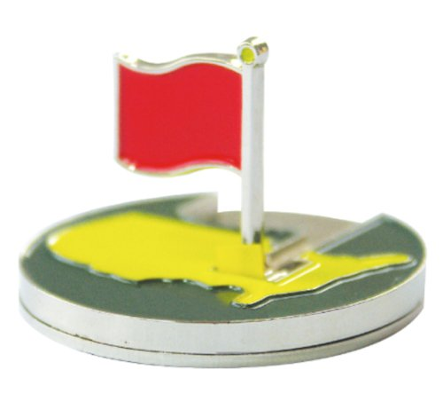 Flag Flip-up Magnetic Golf Ball Marker with Hat Clip