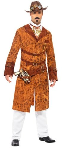 Smiffy's Steam Punk Wild West Agent Male Costume, Multi, (Agent Smith Costume)