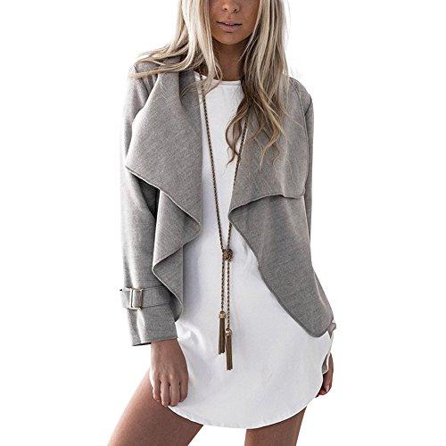 EverChic Women's Autumn Oversize Slim Fit Bodycon Suit Coat Jacket Blazer Outwear (Jacket Wool Tweed)