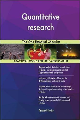 Book Quantitative research: The One Essential Checklist