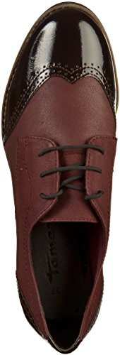 Tamaris Damen 23202 Oxfords Rot (Bord/BordPat)