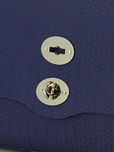 Leder 61346035 Blau Damen Zanellato Handtaschen PawSq5x
