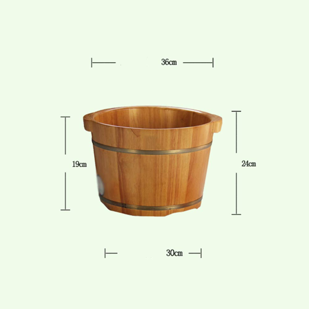 QING MEI-Foot tub, Foam Foot Wooden Barrel, Wooden Wash Basin, Single Side 26CM High with Cover A++ by QING MEI-Foot tub (Image #6)