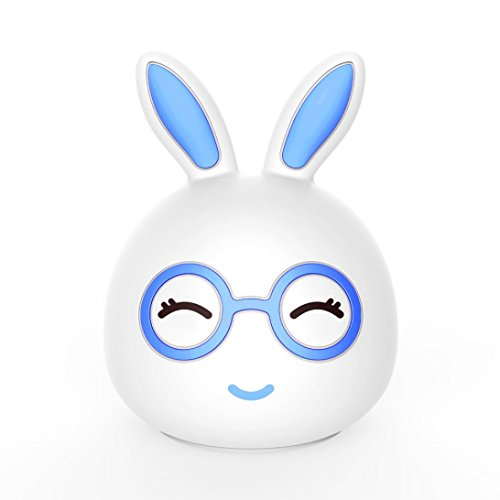 Kanzd USB Charging Silicone Rabbit LED Colorful Portable Night Light House Party Decor (D)