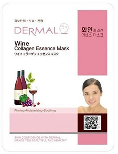 Dermal Korea Collagen Essence Facial Mask Sheet - Wine