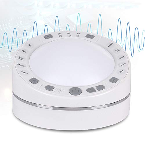 Adaptive Sound Technologies High Fidelity White Noise Sound Machine with DIY Recording and Playback Function and White Noise Sounds and Sleep Timer (White)