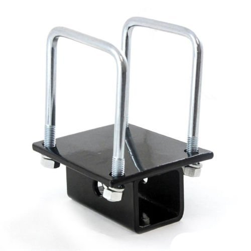 (OxGord RV Bumper Bike Rack Carrier Receiver Adapter for 4 Square RV Bumpers Rust)