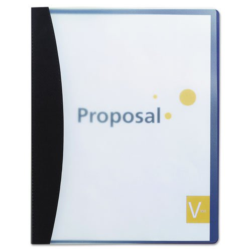 - Report Cover w/Hidden Swing Clip, Letter Size, Black, Sold as 1 Each