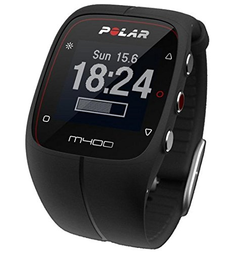 Polar M400 GPS Smart Sports Watch with Heart Rate Monitor (Black) (Polar Activity Monitor)