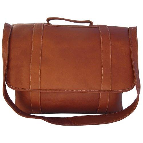 Piel Leather Traditional Flap Portfolio, Saddle, One Size