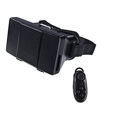 """3D VR Glasses 3D Viewer Adjustable Focus Virtual Reality VR Box DIY Video Movie Game Glasses With Remote Controller For Iphone 6+,Samsung S6 and All 4.0-6.0"""" Smartphone"""