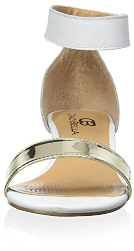 Ciao Bella Women's Wilson Wedge Sandal White/Gold 0AZESLTtB