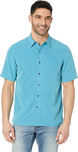 Royal Robbins 71200 Men's Desert Pucker Dry Short Sleeve Shirt, Turkish Tile - L