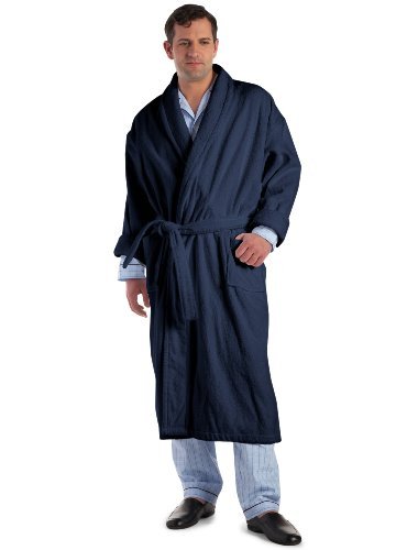 Rochester by DXL Terry Robe, Navy LX/LT by Rochester
