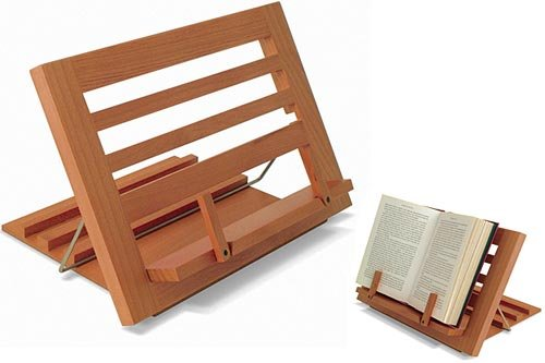 Wood Cookbook Holder and Book Stand by Shaker Workshops