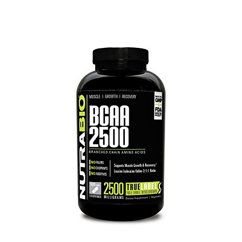 NutraBio 2500 500 Vegetable Capsules Branched