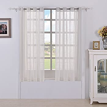 Merveilleux Best Dreamcity Faux Linen Sheer Curtains For Bedroom, Window Treatment  Drapes, Grommet Top,