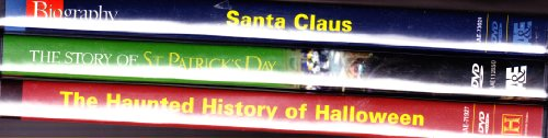 The History Channel Holiday Classics Collection : Biography Santa Claus , Haunted History Of Halloween , The Story Of St. Patricks Day : 3 DVD Box Set -