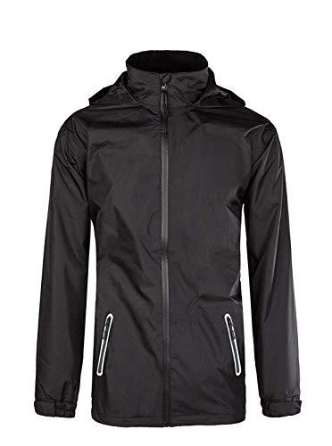 Men's Hooded Windproof Rain Jacket Lightweight Rainwear Breathable Biking Wind Coat, Black01, US XL Green ...