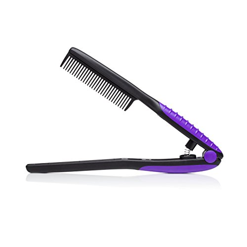 - Brilliance New York - EZ Comb, Supports Precision Styling, Black and Purple