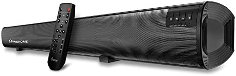 Soundbar WOHOME tv Sound Bar Wireless Bluetooth Home Theater Surround Speaker System with Remote Control 34 Inch 6 Drivers 80W 100 dB 2020 Updated Version Model S19