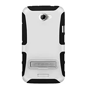 Seidio CSK3HTNXLK-GL DILEX with Metal Kickstand Case for use with HTC One X (AT&T LTE) and HTC One X (International GSM) - Glossed White
