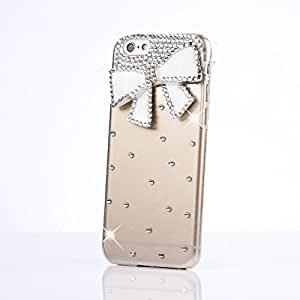 iPod Touch 5 Case, Sense-TE Glamour Crystal 3D Handmade Sparkle Glitter Bowknot Diamond Gem Rhinestone Bling iPod Case Clear Hard Cover for iPod Touch 5th Generation with Retro Bowknot Anti Dust Plug