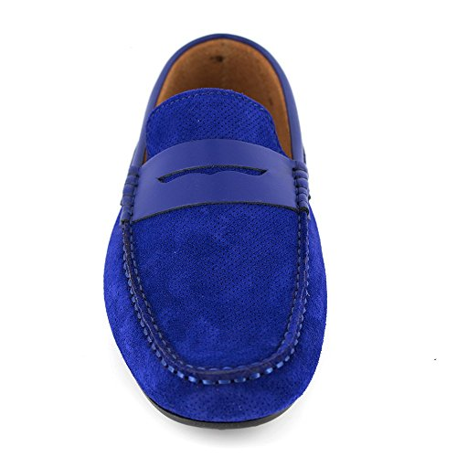 J.BRADFORD Mocasín Cuero Azul