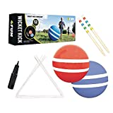 4 FUN WICKET KICK - Giant Kick Ball Croquet Outdoor Games - Great Family Games For Kids, Teens And Adults - Perfect Life Size Fun For Your Lawn, Camping Or Trips To The Beach (Renewed)