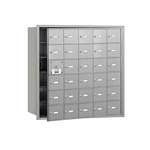 Salsbury Industries 3630AFU 4B Plus Horizontal Mailbox, 30 A Doors 29 Usable, Front Loading, USPS Access, Aluminum