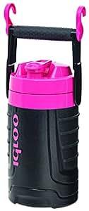 Igloo 1/2 gallon Insulated Hydration Jug, Black/Pink, 64 oz
