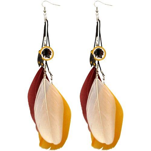 UPC 885906593760, NFL Washington Redskins Ladies Fan Feather Earrings