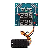 GINZU 12V Intelligent Temperature Humidity Controller Relay Thermostat AC/DC Capacitive Temperature and Humidity integrated sensor 100% NEW