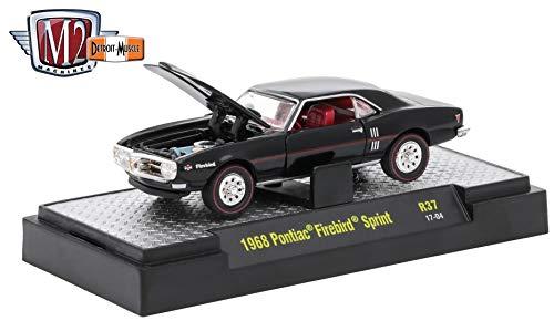 (M2 Machines 1968 Pontiac Firebird Sprint (Black) - 2017 Detroit Muscle Release 37 Premium Edition 1:64 Scale Die-Cast Vehicle (R37 17-04))