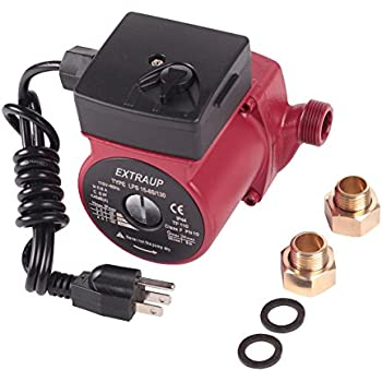 EXTRAUP 3/4 NPT 110V Hot Water 3-Speed Cast Iron Circulation Pump Circulator Pump