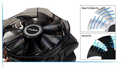 Zalman CPU Cooler with Direct Tough Heatpipe Base and Shark Fin Fan Cooling, Silver, (CNPS8X Optima) by Zalman (Image #10)