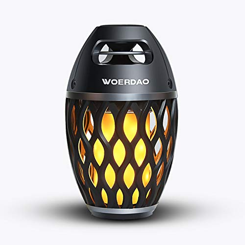 LED Flame Speaker,Portable Bluetooth Speakers Torch Atomosphere Lights&Indoor/Outdoor Wireless Speaker with Superior Bass Stereo,Table and Camping Speaker BT4.2 for IPhone/IPad/Android-USB Charging